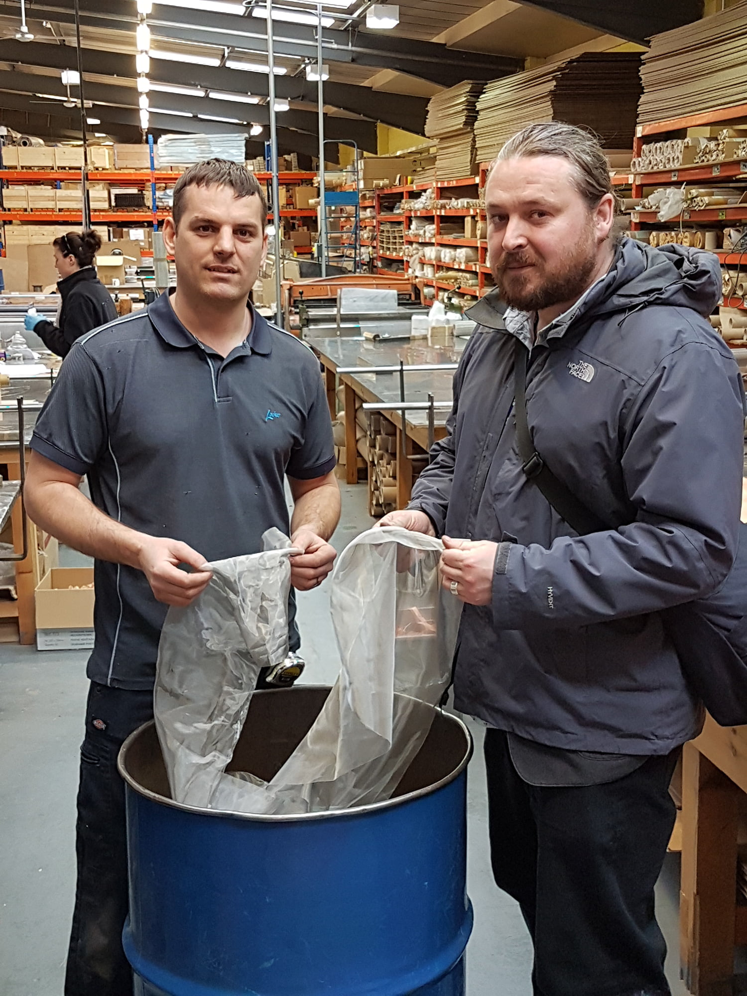 Scrap wire mesh donated to TCAT Partnership