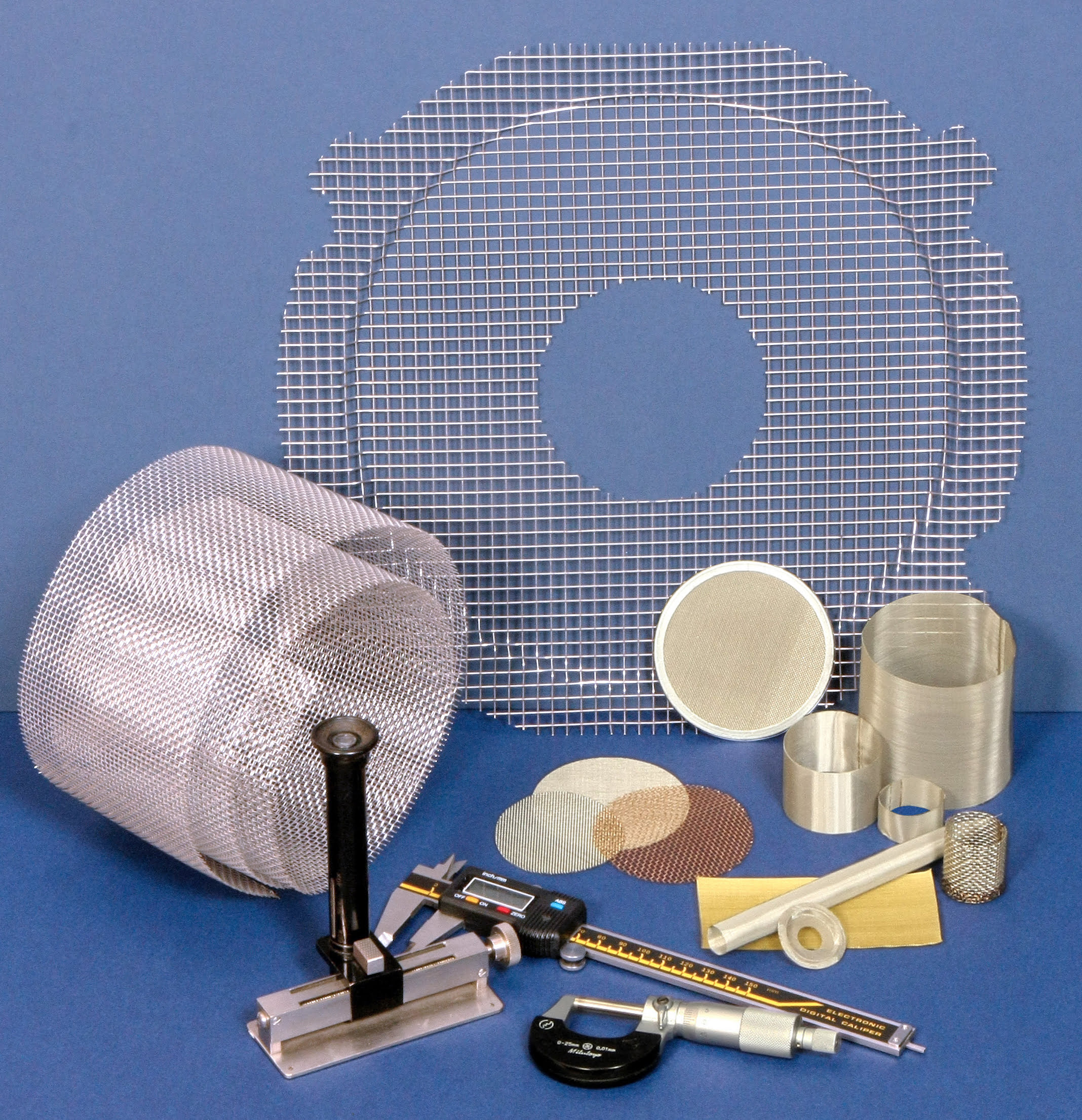 Various woven wire mesh screens and seives